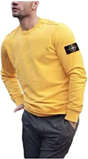 Mogogo Mens Solid Colored Long Sleeve Scoop Neck Vogue Pullover Sweatshirt