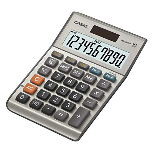 Casio MS-100BM - Calculadora básica, 30.7 x 103 x 145 mm, plata