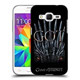 Official HBO Game of Thrones Dragon Throne Season 8 Key Art Hard Back Case Compatible for Samsung Galaxy Core Prime