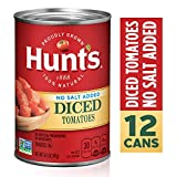 Hunt's Diced Tomatoes No Salt Added, Keto Friendly, 14.5 oz, 12 Pack