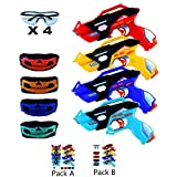 Infrared Laser Tag Guns Set of 4 Players with 4 Guns 4 Vests 4 Tactical Masks 4 Protective Glasses...