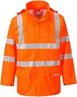 Portwest FR41 - Sealtex la llama de alta visibilidad chaqueta, color naranja, talla Small