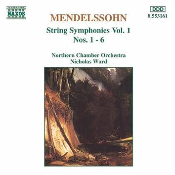 MENDELSSOHN: String Symphonies, Vol.  1