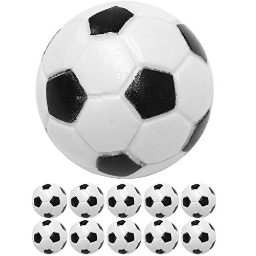 Maxstore Kicker Bälle aus ABS, 10 Stück, Farbe: schwarz/weiß (Klassische Fußball-Optik), hart und schnell, Durchmesser 31mm, Tischfussball Kickerbälle Kicker-Ball