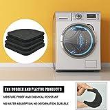 SNAGAROG 20 Stück Anti-Vibrations-Pads Waschmaschinenunterlage Antivibrationsmatte Gummischutzmatte Gummi Stille Füße Pads für Waschmaschinen, Trocknern, Kühlschränken (7,7 * 7,7 * 0,5) - 5