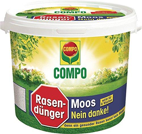 Compo Rasendünger Moos -nein Danke! mit 6 Wochen Wirkung, Feingranulat, 4 kg, 160 m²