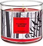 Bath and Body Works White Barn Vampire Blood 3 Wick Candle 14.5 Ounce Halloween 2020 Collection
