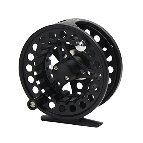 Croch Fly Fishing Reel with CNC-machined Aluminum Alloy Body 3/4 Black
