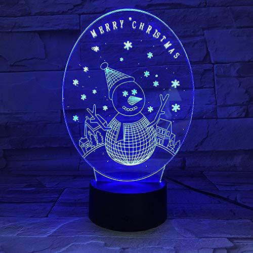 Regalo de Navidad de Año Nuevo lámpara de mesa 3D efecto de iluminación único decoración LED mesita de noche lámpara pequeña regulable