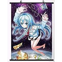 アニメの巻物ポスターぶら下げ絵画家の装飾壁アートアニメファンは贈り物を集める 19.7x29.5inch/50x75cm
