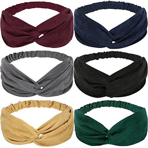 JIPIE Damen Stirnband schwarz Velvet