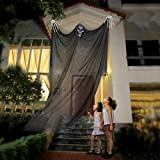 Vohoney Halloween Decorations Hanging Ghost Prop Flying Scary Skeleton Ghost Creepy Ornament for House Vampire Party Bar (Halloween Hanging Ghost for Black)