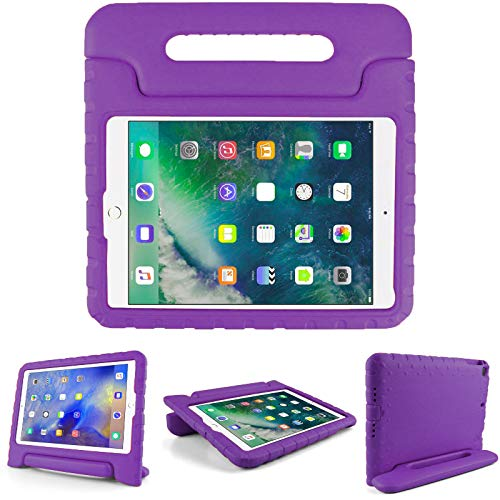 Kids Friendly Case for Samsung Galaxy Tab 4 10.1'(T530), Light-Weight EVA Soft Foam Durable Rugged Shockproof Kidsproof Foldable Convertible Handle Kickstand Cover for Teenages - Purple
