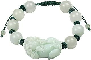 Jadeite Certified Grade A Jade Intricate Pi Xiu Dragon Fortune Prosperity Bracelet