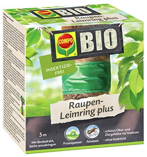 COMPO BIO Raupen-Leimring, Leimfalle, Inklusive Bindedraht, Insektizid-frei, 5 m