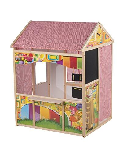 Marionette Wooden Toys - 56388 - Maison d'enfants Et Tableau - Noir - 90 X 84 X 119 Cm