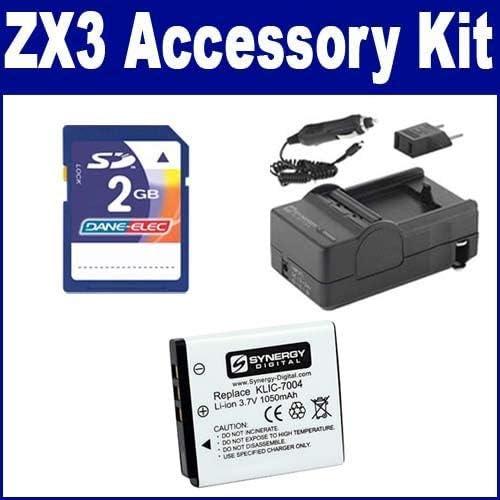 Kodak PlaySport Zx3 Digital Camera Accessory Detroit Mall Kit SDKLI includes: Tulsa Mall