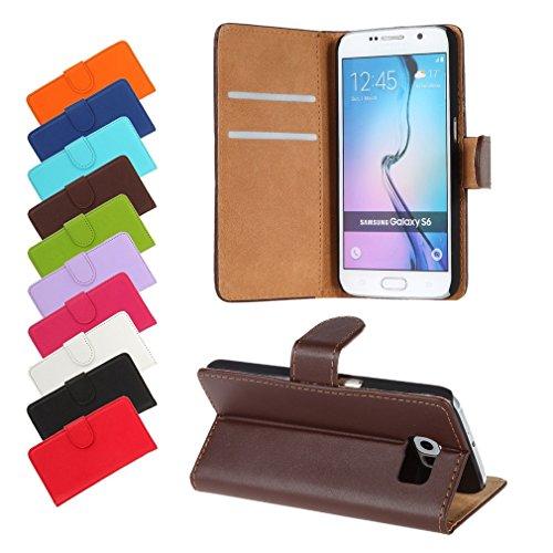 BRALEXX Huawei P9 Lite 2016 / P9 Lite 2016 Dual SIM Bookstyle-Tasche Hülle Hülle Schutz BRAUN (zum Aufstellen, 2x Kartenfach, 1x Geldfach, Silikon-R&umschutz-Innenschale)