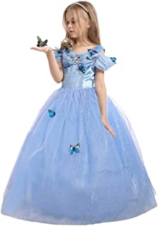 EnjoyFashion Girls Princess Cinderella Dress Butterfly Party Costumes