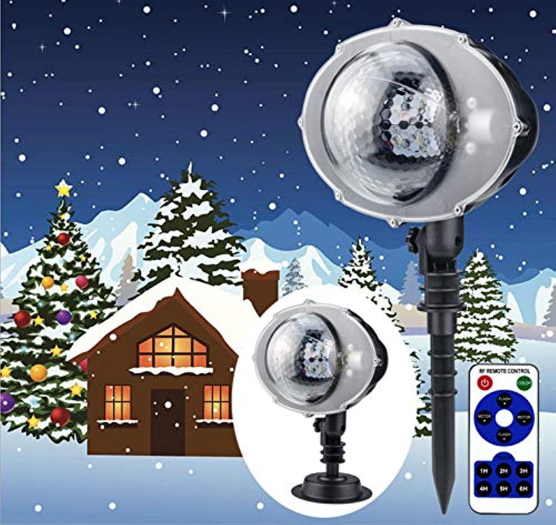Schneeflocke Weihnachten Projektion Lichter, 180 ° Freie Anpassung Sterne Outdoor Fernbedienung LED Schneefall Wasserdichte Projektor Lichter Ferienhaus Party Wand Garten Dekoration