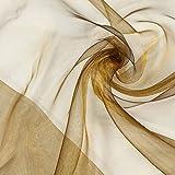 Fabulous Fabrics Organza bronze, Uni, 145cm breit –