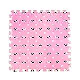 Fancy Citrouille 9Pcs Mignon Chiens Imprimé Imbriqués Tapis de Sol Puzzle Tapis de Jeu pour Bébé Chambre d'enfant, 01