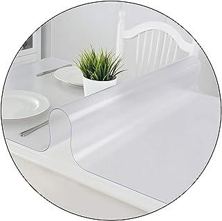 JMSL Bordsdukar transparent bordsduk PVC mjuk plast bordsduk halkfri tvättbar används för matbord/tebord/TV-skåp skrivbord...
