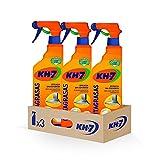 KH-7 Quitagrasas - Máxima Eficacia Sin Esfuerzo para Todo Tipo de Superficies y Tejidos, Apto para Superficies Alimentarias, Formato Pulverizador Cómodo y Práctico - Pack de 3 Unidades x 650 ml