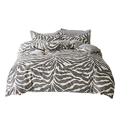 PICTURESQUE Juego de Cama Funda Nórdica con Color de Leopardo Funda de Almohada, Cama 105