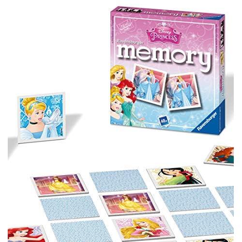 Ravensburger Italy- Principesse Disney Princess – Mini Memoria per Bambini dai 3 Anni in su – Un Classico Gioco a Scatto Abbinato a Coppie, 22312
