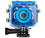 Smyidel Kids Digital Camera,1080P Supported Waterproof Video Camera Mini 2 Inch Screen Best Gift for Kids (Blue)
