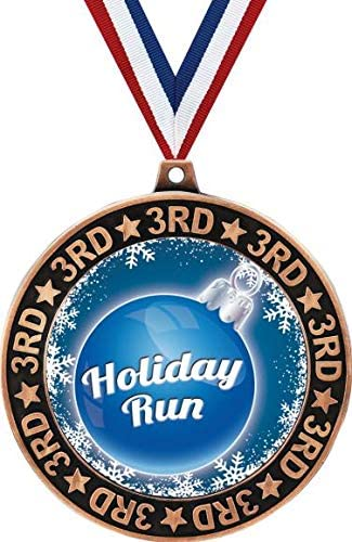 Holiday Run 3rd Place Medal Free shipping on posting reviews Perimeter Direct store Bronze 2.75
