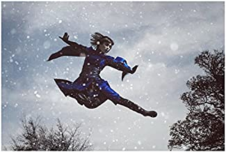 Into the Badlands Ally Ionnides as Tilda mid-leap in snow 8 x 10 Inch Photo