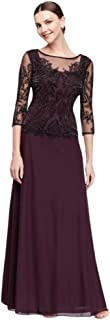 Sequined and Beaded Long Mesh Mother of Bride/Groom Dress Style D1545