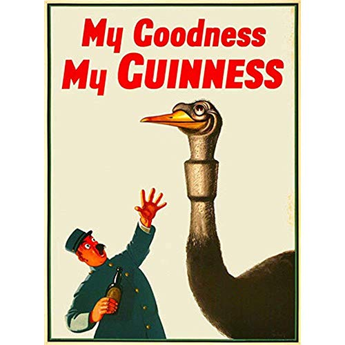 Lorenzo My Goodness My Guinness Vintage Metal Vintage Metallblechschild Wand Eisen Malerei Plaque Poster Warnschild Cafe Bar Pub Bier Club Dekoration