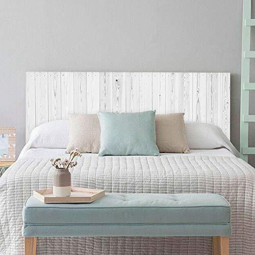 setecientosgramos Cabecero Cama PVC | Whitewood | Varias Medidas | Fácil colocación | Decoración Dormitorio (115x60cm)