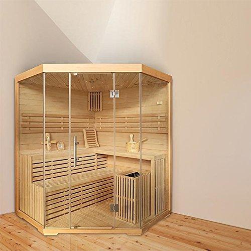 Eck-Sauna für 4 Personen, B 1,8m, mit Sternenhimmel
