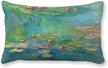Decorative Pillow Covers Monet Water Lilies Throw Pillow Case Cushion Cover Home Decor,Square 12 X 20 Inches