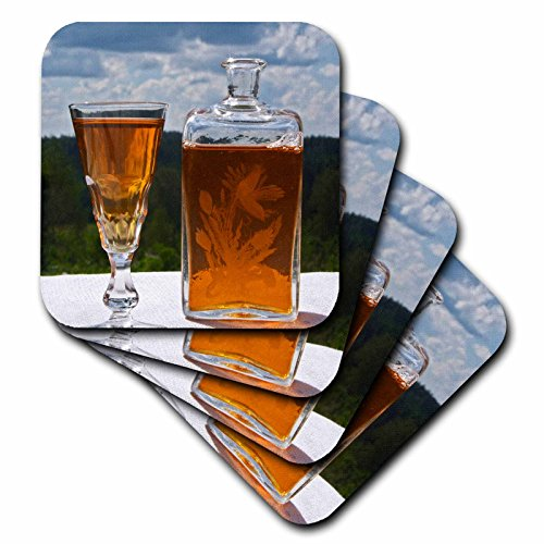 3dRose CST_82606_3 Schwedische Aquavit Schnapps, Wodka, Brannvin, Schweden EU28 PKA0096 Per Karlsson Keramikfliesen-Untersetzer, 4er-Set