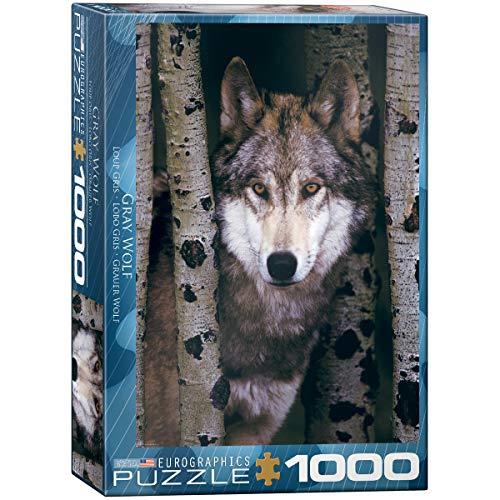 Eurographics Gray Wolf 1000pcs Puzzle - Rompecabezas (Puzzle Rompecabezas, Animales, Niños y Adultos, 1000 Pieza(s))