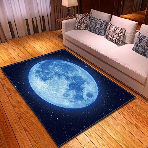 CMYKYUH Alfombra Salon Cielo Estrellado Azul 120 x 170 cm Alfombra De...
