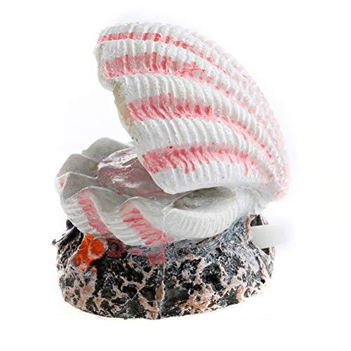 Shell Perla De La Manera Volcán Coral Forma Juguetes Acuario De Pescados De La Decoración Del Tanque De Oxígeno Bomba De Aire Bomba De Burbujas Piedra Air Drive Decoración Del Ornamento Del Tanque De
