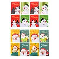 EXCEART 24ピースミニノートブッククリスマステーマto Doリストメモ帳クリスマス雪だるまメモ帳ポケットノートブック日記ジャーナル旅行