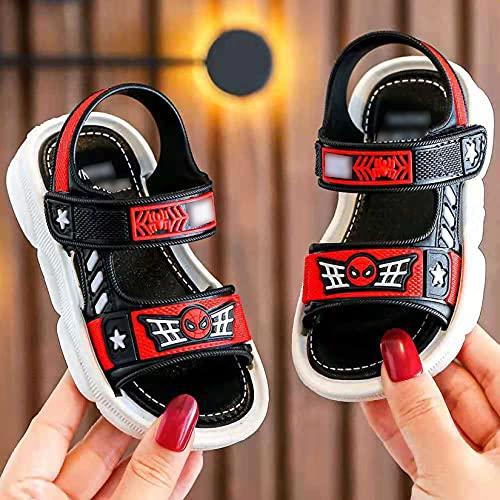 LQ-LIMAO Sandalias Infantiles Moda Boy Beach Zapatos de Playa Sandy Beach Sandalias y Zapatillas Zapatos de Verano Transpirables,Red- 29 iner length17cm
