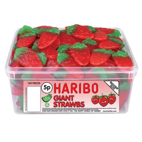 Haribo Giant Strawberrys 120 Pieces