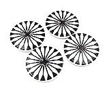 Bastel Express Set de 10 Botones de Madera (30 mm, Adornados con un botón de Flor Blanca)