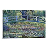 yaojia Monet Water Lily Pond Poster Decorative Painting Canvas Wall Art Living Room Posters Bedroom Painting 24×36inch(60×90cm)