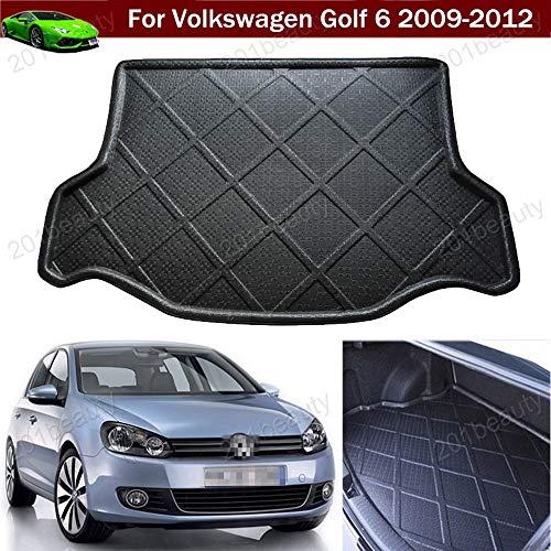 Neu Auto-Matte Auto-Kofferraummatte Kofferraumabdeckung Gepäckraumschale Gepäckraumschale Gepäckraumabdeckung Kofferraummatte Kofferraummatte Tray Bodenmatte für Golf 6 MK6 2009 2010 2011 2012