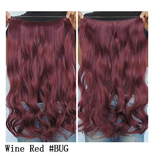 Secret Halo Hair Extensions Flip in Curly Wavy Hair Extension Synthetic Women Hairpieces 20' (20 Inch, #BUG)