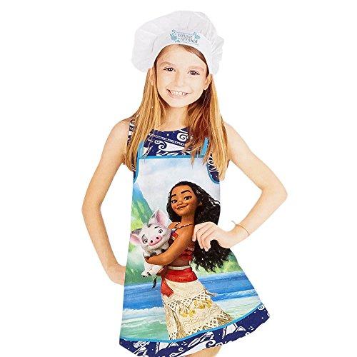 Tablier + Toque Disney Vaiana Cuisine Deguisement enfant 3 à 8 ans
